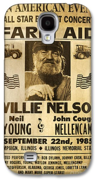 Vintage Willie Nelson 1985 Farm Aid Poster Galaxy S4 Case by John Stephens