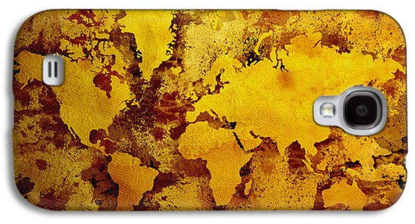 Old Map Digital Galaxy S4 Cases - Vintage World Map Galaxy S4 Case by Zaira Dzhaubaeva