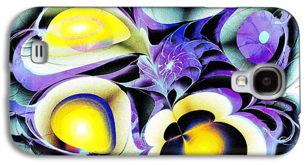 Abstracts Galaxy S4 Cases - Viola Tricolor Galaxy S4 Case by Anastasiya Malakhova