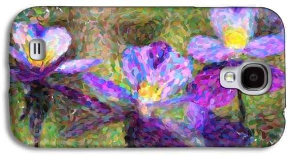 Copy Mixed Media Galaxy S4 Cases - Violet flowers Galaxy S4 Case by Toppart Sweden