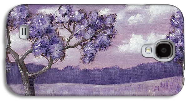 Lilacs Drawings Galaxy S4 Cases - Violet Mood Galaxy S4 Case by Anastasiya Malakhova