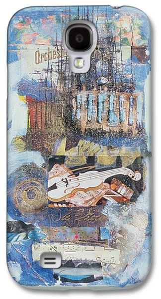 Sheet Galaxy S4 Cases - Violin, 1998 Mixed Media Galaxy S4 Case by Nissan Engel