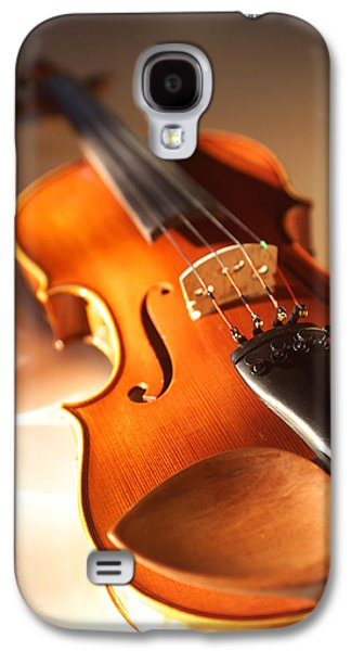 Hanging Galaxy S4 Cases - Violin XVI Galaxy S4 Case by Jon Neidert