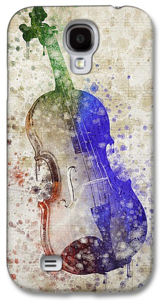 Violin Galaxy S4 Case by Aged Pixel