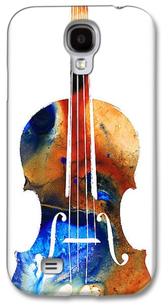Music Mixed Media Galaxy S4 Cases - Violin Art by Sharon Cummings Galaxy S4 Case by Sharon Cummings