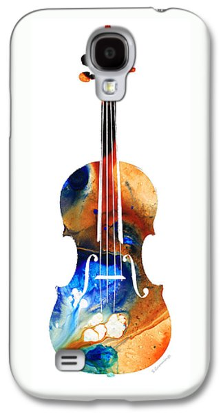 Violin Art By Sharon Cummings Galaxy S4 Case by Sharon Cummings