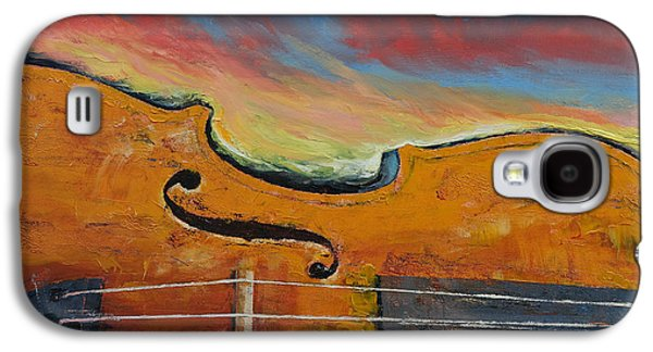 Violin Galaxy S4 Case by Michael Creese