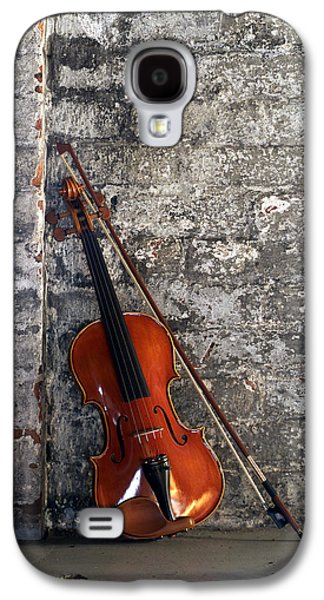 Hanging Galaxy S4 Cases - Violin on Brick Galaxy S4 Case by Jon Neidert