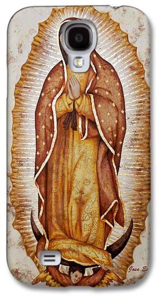 Religious Drawings Galaxy S4 Cases - Virgen De Guadalupe Galaxy S4 Case by Jose Espinoza