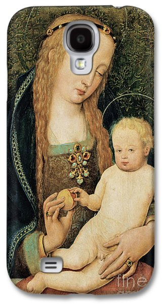 Child Jesus Paintings Galaxy S4 Cases - Virgin and Child with Pomegranate Galaxy S4 Case by Hans Holbein the Younger
