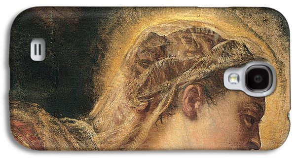 Halo Galaxy S4 Cases - Virgin Mary  Galaxy S4 Case by Tintoretto