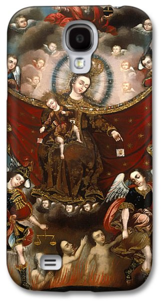 Saving Paintings Galaxy S4 Cases - Virgin of Carmel Saving Souls in Purgatory Galaxy S4 Case by Unknown