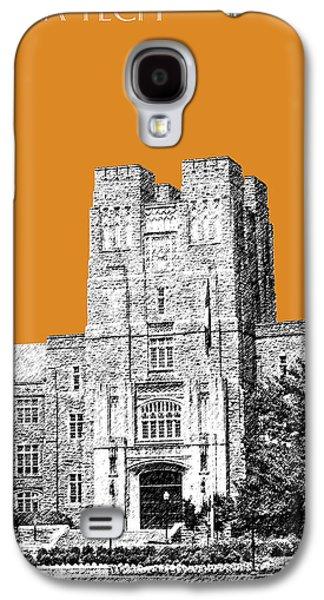 University Galaxy S4 Cases - Virginia Tech - Dark Orange Galaxy S4 Case by DB Artist
