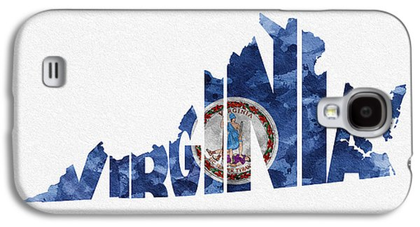Virginia Typographic Map Flag Galaxy S4 Case by Ayse Deniz