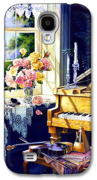 Piano Paintings Galaxy S4 Cases - Virginia Waltz Galaxy S4 Case by Hanne Lore Koehler