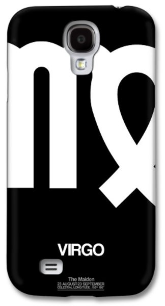 Virgo Galaxy S4 Cases - Virgo Zodiac Sign White Galaxy S4 Case by Naxart Studio
