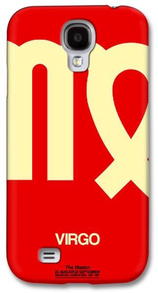 Virgo Galaxy S4 Cases - Virgo Zodiac Sign Yellow Galaxy S4 Case by Naxart Studio