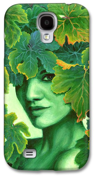 Innocence Paintings Galaxy S4 Cases - Virtue in the Vines Galaxy S4 Case by Sandi Whetzel