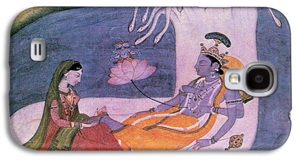 Hindu Goddess Photographs Galaxy S4 Cases - Vishnu And Lakshmi Float Across Cosmos Galaxy S4 Case by Photo Researchers