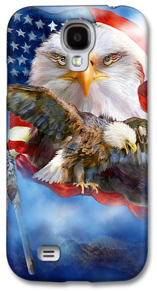 Eagle Mixed Media Galaxy S4 Cases - Vision Of Freedom Galaxy S4 Case by Carol Cavalaris