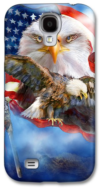 Eagle Mixed Media Galaxy S4 Cases - Vision Of Freedom Galaxy S4 Case by Carol Cavalaris