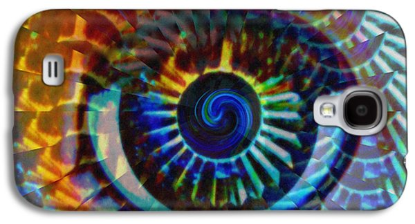 Colorful Abstract Digital Galaxy S4 Cases - Visionary Galaxy S4 Case by Gwyn Newcombe