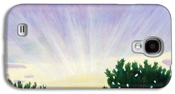 Sun Rays Paintings Galaxy S4 Cases - Visionary Sky Galaxy S4 Case by Brian  Commerford