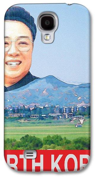 Kim Digital Art Galaxy S4 Cases - Visit North Korea Travel Poster Galaxy S4 Case by Finlay McNevin