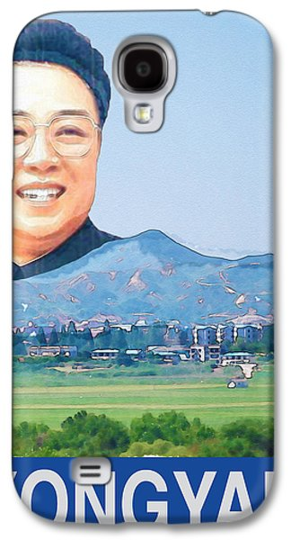 Kim Digital Art Galaxy S4 Cases - Visit Pyongyang Travel Poster Galaxy S4 Case by Finlay McNevin