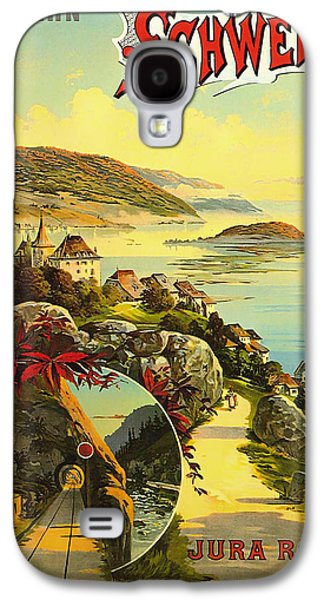 Switzerland Drawings Galaxy S4 Cases - Visit Switzerland 1895 Galaxy S4 Case by Mountain Dreams