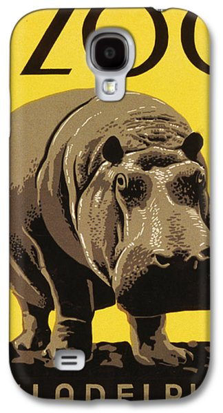 Hippopotamus Digital Galaxy S4 Cases - Visit the Philadelphia Zoo Galaxy S4 Case by Bill Cannon