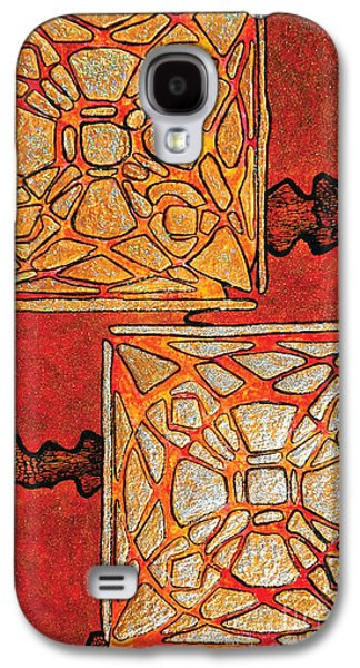 Vitrales II From The Frank Lloyd Wright A Mano Series Galaxy S4 Case by Chary Castro-Marin