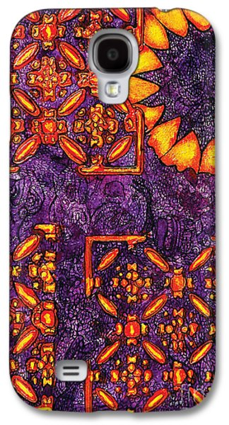 Vitrales IIi From The Frank Lloyd Wright A Mano Series Galaxy S4 Case by Chary Castro-Marin
