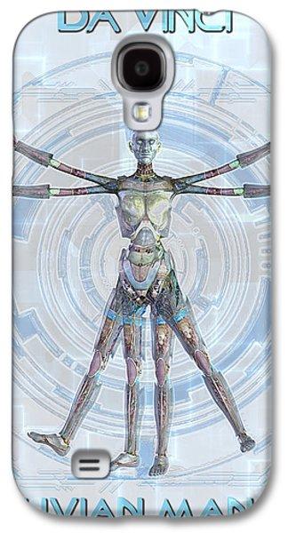 Frederico Borges Galaxy S4 Cases - Vitruvian man 3000 Galaxy S4 Case by Frederico Borges