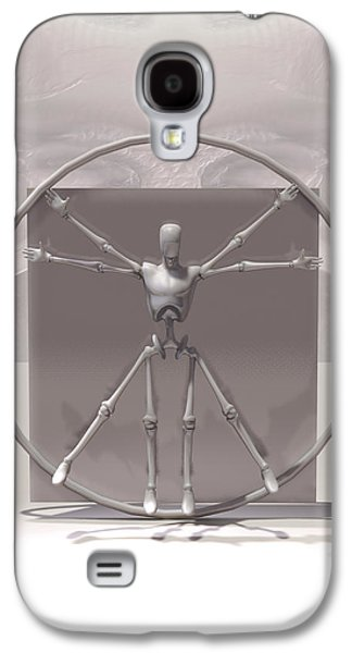 The Vitruvian Android Galaxy S4 Case by Quim Abella