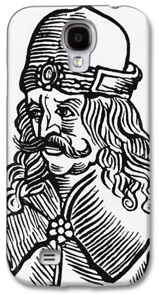 Male Drawings Galaxy S4 Cases - Vlad Tepes Dracula Galaxy S4 Case by French School