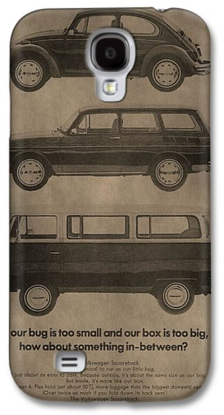 Mechanics Mixed Media Galaxy S4 Cases - Volkswagen Advertisement Galaxy S4 Case by Dan Sproul