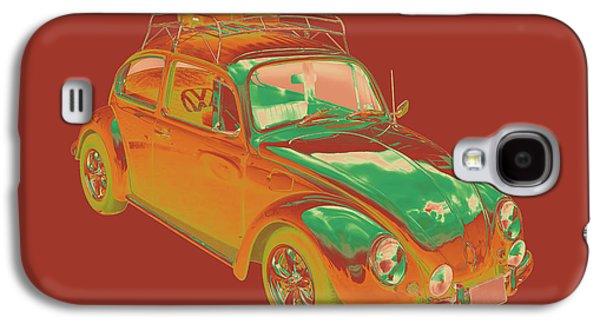 Punch Digital Art Galaxy S4 Cases - Volkswagen beetle Punch Buggy Modern Pop Art Galaxy S4 Case by Keith Webber Jr