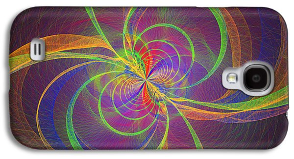Digital Galaxy S4 Cases - Vortex Abstract Digital Fractal Flame Art Galaxy S4 Case by Keith Webber Jr