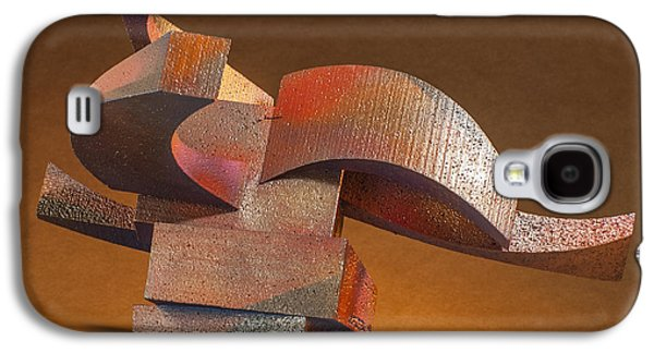 Colorful Abstract Sculptures Galaxy S4 Cases - Vortex Galaxy S4 Case by Richard Arfsten