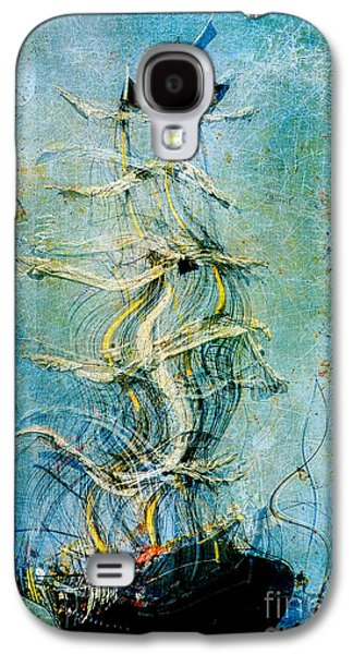 Abstract Realism Digital Art Galaxy S4 Cases - Voyage dEau 04at2b- Sea Boat Collection Galaxy S4 Case by Variance Collections