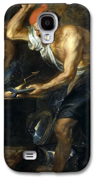 Thunder Paintings Galaxy S4 Cases - Vulcan forges Jupiters thunder Galaxy S4 Case by Peter Paul Rubens