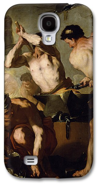 Hammer Paintings Galaxy S4 Cases - Vulcans Forge Galaxy S4 Case by Luca Giordano