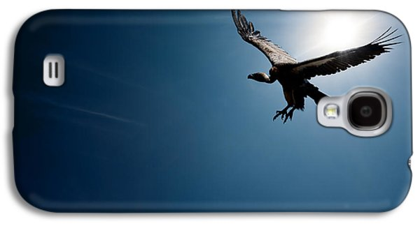 Horizontal Digital Galaxy S4 Cases - Vulture flying in front of the sun Galaxy S4 Case by Johan Swanepoel