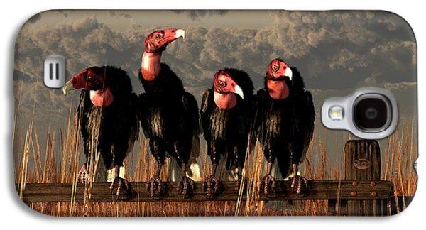Vultures On A Fence Galaxy S4 Case by Daniel Eskridge