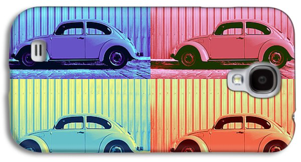 Vw Beetle Pop Art Quad Galaxy S4 Case by Laura Fasulo