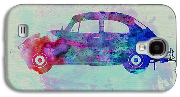 Naxart Drawings Galaxy S4 Cases - VW Beetle Watercolor 1 Galaxy S4 Case by Naxart Studio