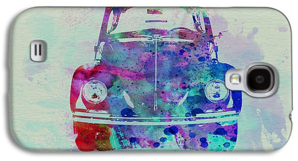 Naxart Drawings Galaxy S4 Cases - VW Beetle Watercolor 2 Galaxy S4 Case by Naxart Studio