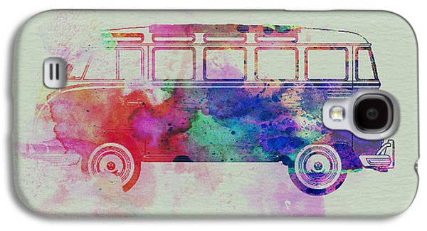 Naxart Drawings Galaxy S4 Cases - VW Bus Watercolor Galaxy S4 Case by Naxart Studio