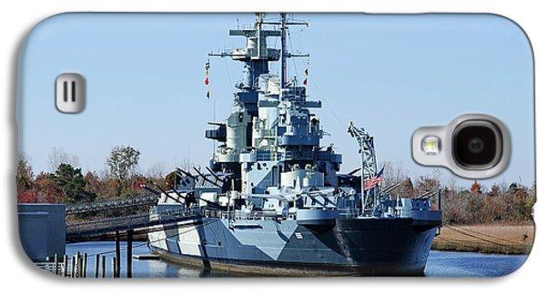 Transportation Photographs Galaxy S4 Cases - W W II Battleship North Carolina Galaxy S4 Case by David Byron Keener